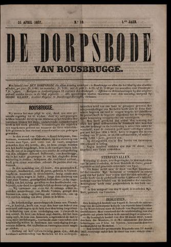 De Dorpsbode van Rousbrugge (1856-1857 en 1860-1862) 1857-04-21
