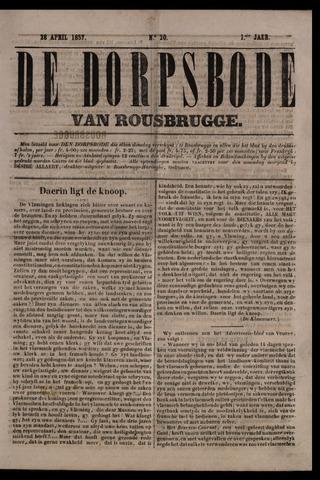 De Dorpsbode van Rousbrugge (1856-1857 en 1860-1862) 1857-04-28