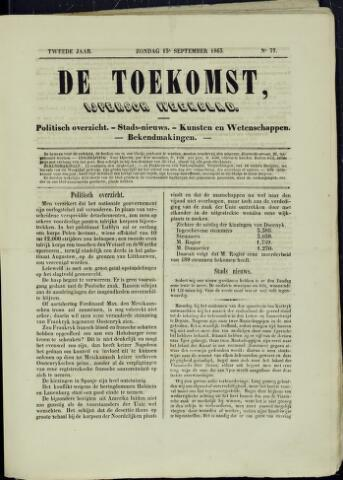 De Toekomst (1862 - 1894) 1863-09-13