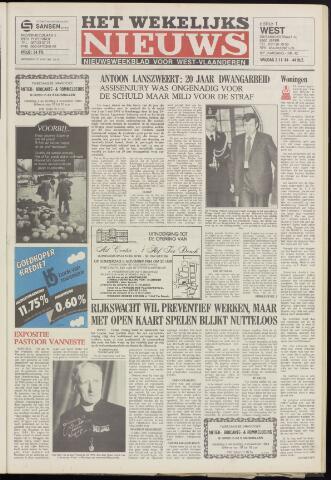 Het Wekelijks Nieuws (1946-1990) 1984-11-02