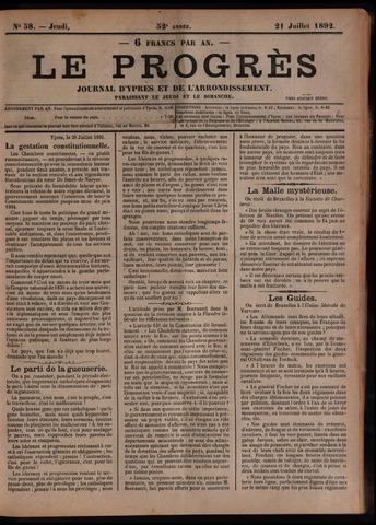 Le Progrès (1841-1914) 1892-07-21
