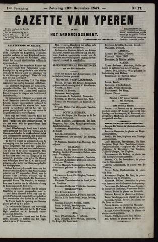 Gazette van Yperen (1857-1862) 1857-12-19