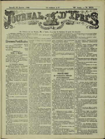 Journal d'Ypres (1874 - 1913) 1900-01-13