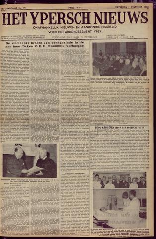 Het Ypersch nieuws (1929-1971) 1962-12-01