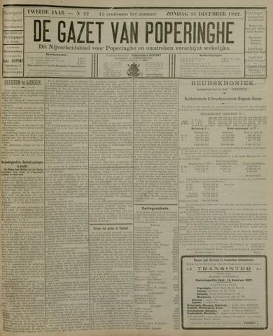 De Gazet van Poperinghe  (1921-1940) 1922-12-24