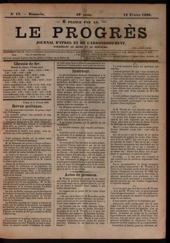 Le Progrès (1841-1914) 1888-02-12