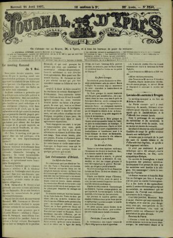Journal d'Ypres (1874 - 1913) 1897-04-28