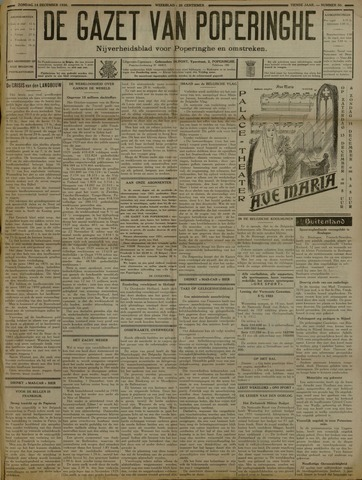 De Gazet van Poperinghe  (1921-1940) 1930-12-14