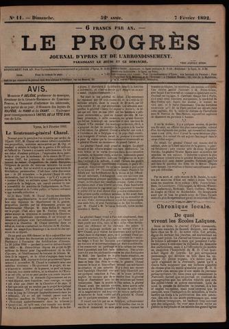 Le Progrès (1841-1914) 1892-02-07