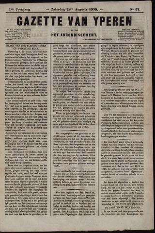 Gazette van Yperen (1857-1862) 1858-08-28