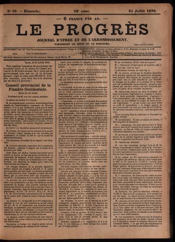 Le Progrès (1841-1914) 1892-07-24