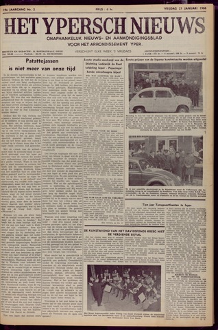 Het Ypersch nieuws (1929-1971) 1966-01-21