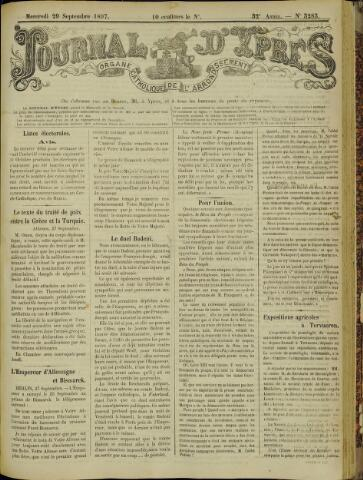 Journal d'Ypres (1874 - 1913) 1897-09-29