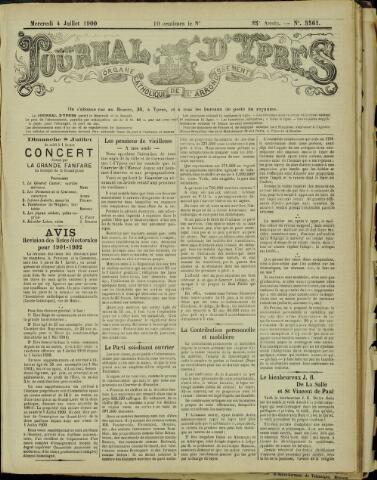 Journal d'Ypres (1874 - 1913) 1900-07-04