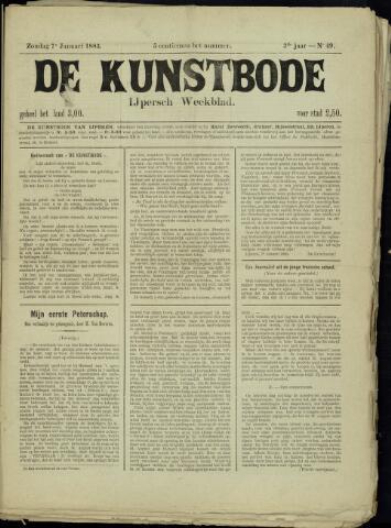 De Kunstbode (1880 - 1883) 1883-01-07