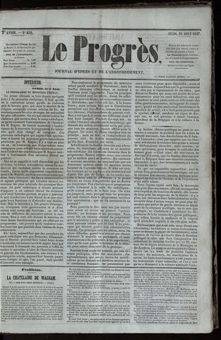 Le Progrès (1841-1914) 1847-08-26