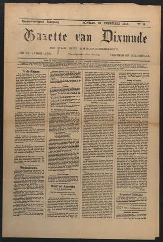 Gazette van Dixmude 1911-02-19