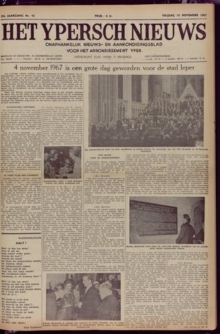 Het Ypersch nieuws (1929-1971) 1967-11-10