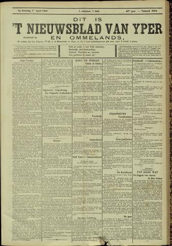 Nieuwsblad van Yperen en van het Arrondissement (1872 - 1912) 1905-04-01