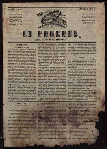 Le Progrès (1841-1914) 1841-06-27