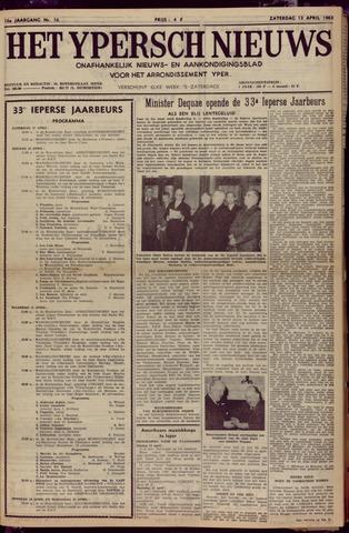 Het Ypersch nieuws (1929-1971) 1963-04-13