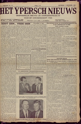 Het Ypersch nieuws (1929-1971) 1960-11-05