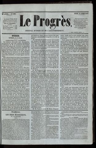 Le Progrès (1841-1914) 1847-04-15