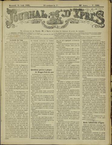 Journal d'Ypres (1874 - 1913) 1898-08-24