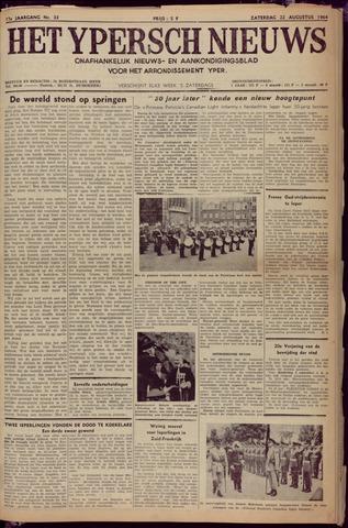 Het Ypersch nieuws (1929-1971) 1964-08-22