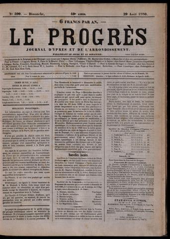 Le Progrès (1841-1914) 1880-08-29