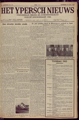 Het Ypersch nieuws (1929-1971) 1962-07-28