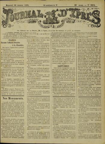 Journal d'Ypres (1874 - 1913) 1898-01-19