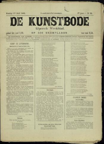 De Kunstbode (1880 - 1883) 1881-07-17