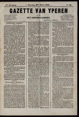 Gazette van Yperen (1857-1862) 1858-03-20