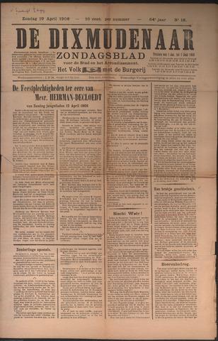 De Dixmudenaar 1908-04-19