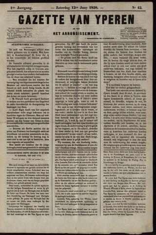 Gazette van Yperen (1857-1862) 1858-06-12