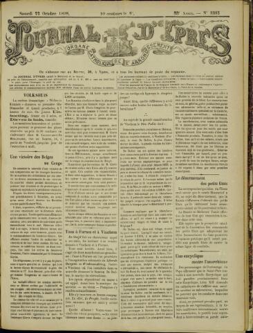 Journal d'Ypres (1874 - 1913) 1898-10-22