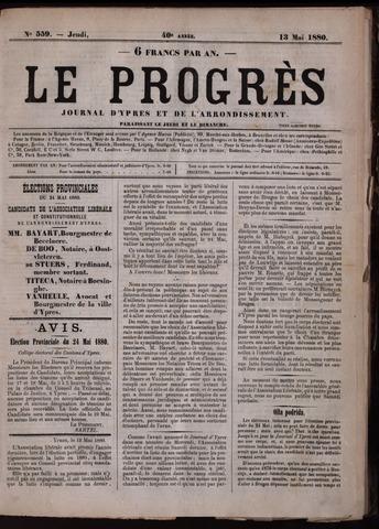 Le Progrès (1841-1914) 1880-05-13