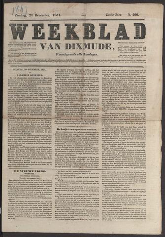 Weekblad van Dixmude 1851-12-21
