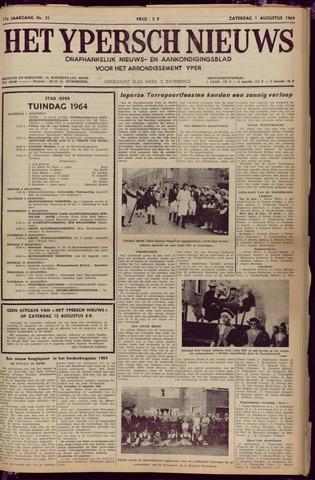 Het Ypersch nieuws (1929-1971) 1964-08-01