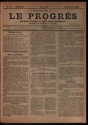 Le Progrès (1841-1914) 1888-02-26
