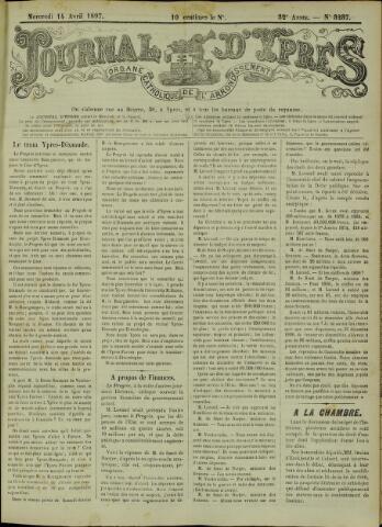 Journal d'Ypres (1874 - 1913) 1897-04-14