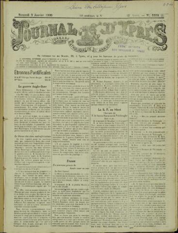 Journal d'Ypres (1874 - 1913) 1900-01-03