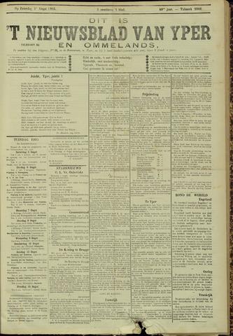 Nieuwsblad van Yperen en van het Arrondissement (1872 - 1912) 1905-08-05
