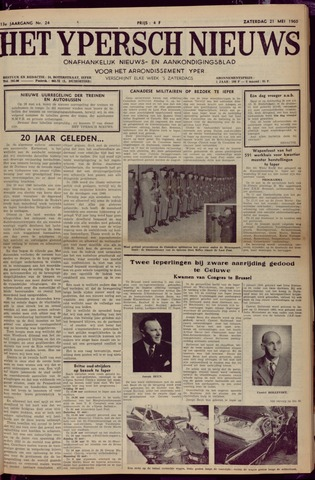 Het Ypersch nieuws (1929-1971) 1960-05-21