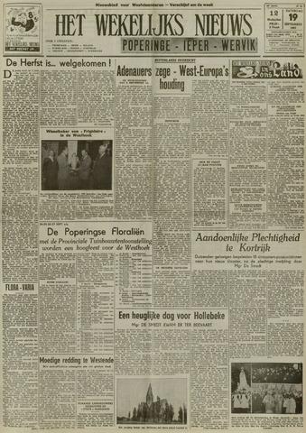 Het Wekelijks Nieuws (1946-1990) 1953-09-19