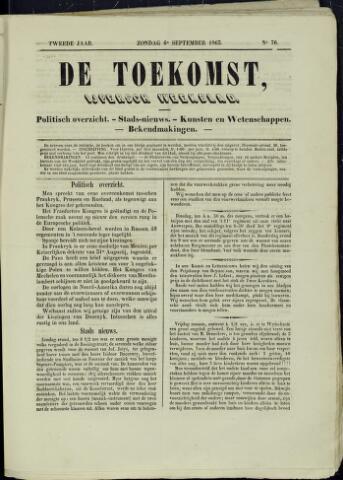 De Toekomst (1862 - 1894) 1863-09-06