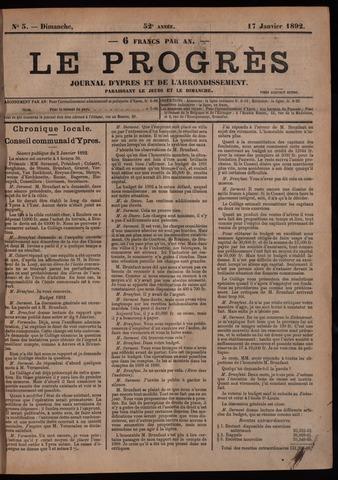 Le Progrès (1841-1914) 1892-01-17