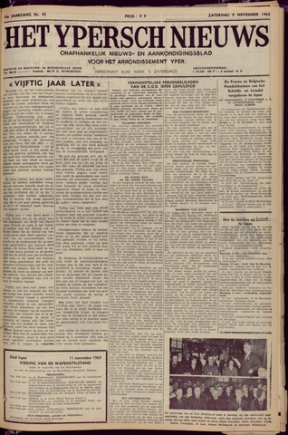 Het Ypersch nieuws (1929-1971) 1963-11-09