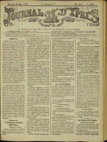 Journal d'Ypres (1874 - 1913) 1898-03-30